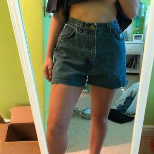 Vintage Wrangler High-Waisted Denim Cut-Offs